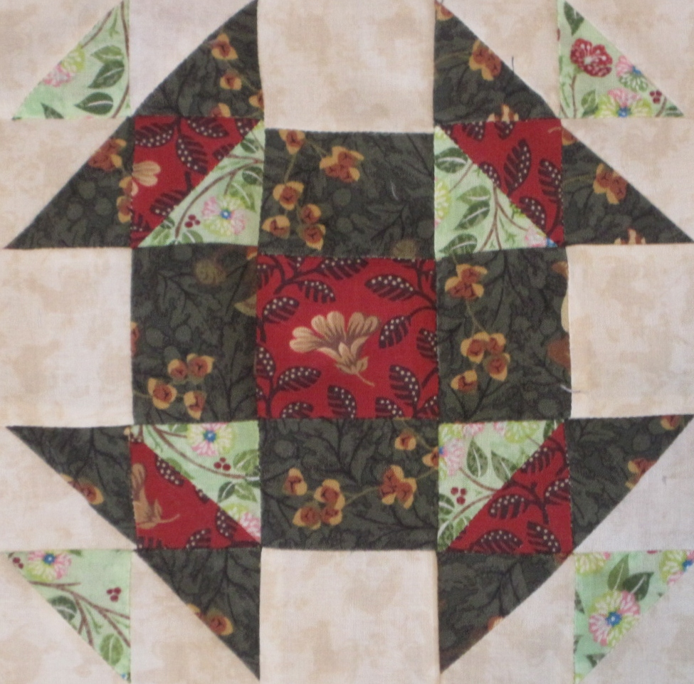 Civil War Quilt – Block 52 – Christmas Star   Lillian's Cupboard : christmas star quilt block - Adamdwight.com