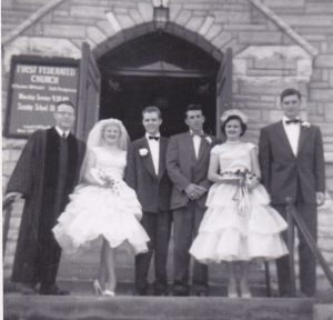 My sister's wedding at First Federated in 1955