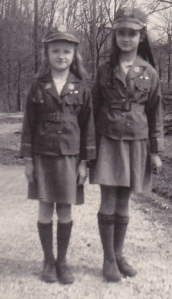 Shirley and Lillian - in our WAC uniforms