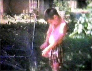 Jackson and the water hose