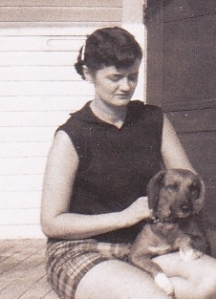 Lillian and Penny, the dog