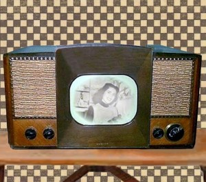A television set similar to the one we owned
