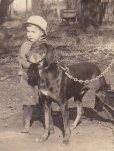 John A and dog-1915 - Copy